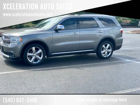 2011 Dodge Durango for sale at XCELERATION AUTO SALES in Chester VA