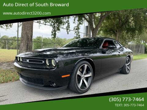 2016 Dodge Challenger for sale at Auto Direct of South Broward in Miramar FL