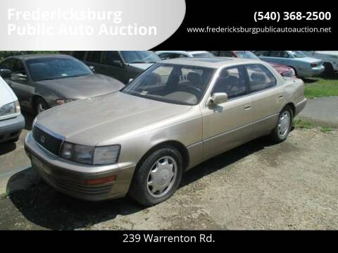 1993 Lexus LS 400 for sale at FPAA in Fredericksburg VA