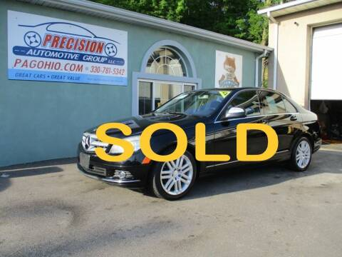 2009 Mercedes-Benz C-Class for sale at Precision Automotive Group in Youngstown OH