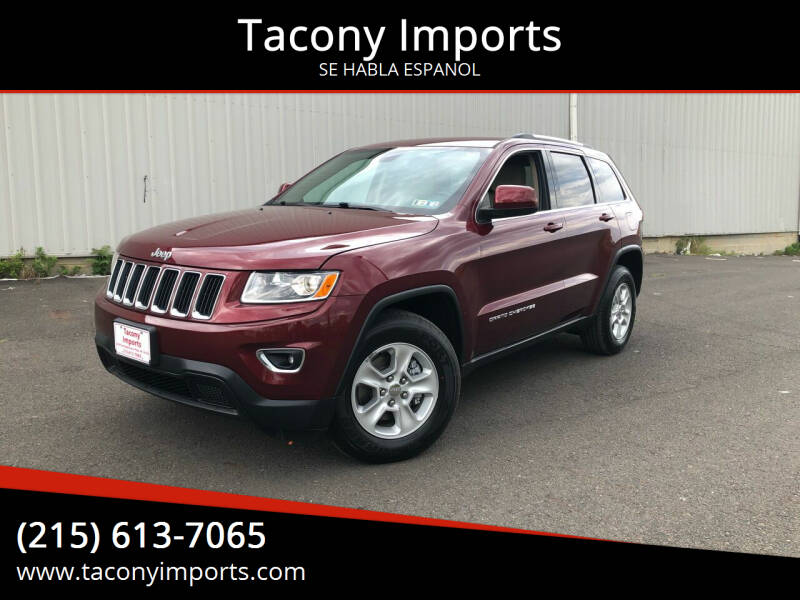 2016 Jeep Grand Cherokee for sale at Tacony Imports in Philadelphia PA