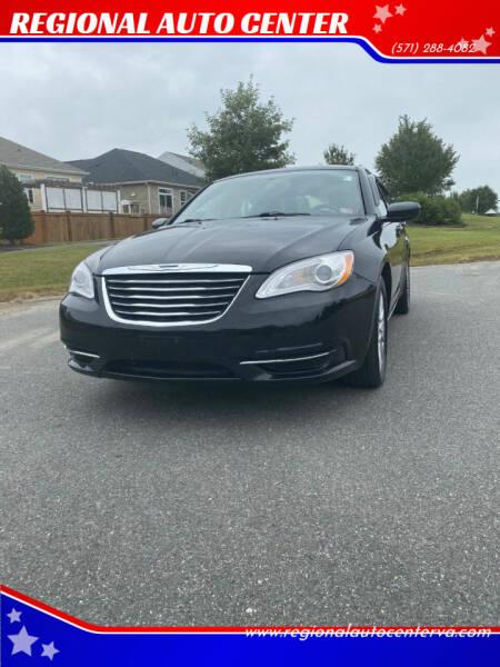 2014 Chrysler 200 for sale at REGIONAL AUTO CENTER in Fredericksburg VA