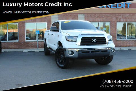 2007 Toyota Tundra for sale at Luxury Motors Credit Inc in Bridgeview IL