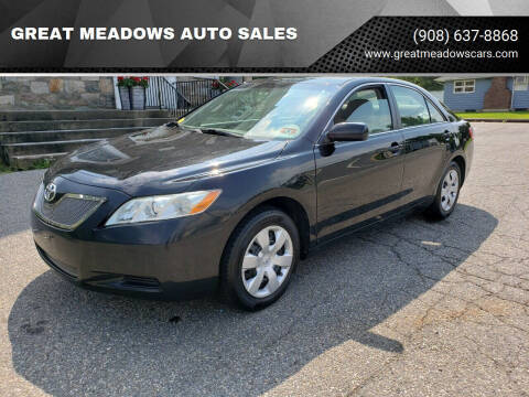 2007 Toyota Camry for sale at GREAT MEADOWS AUTO SALES in Great Meadows NJ