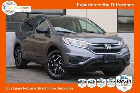 2016 Honda CR-V for sale at Dallas Auto Finance in Dallas TX