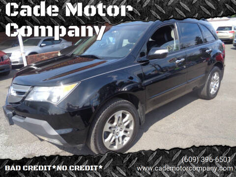 2009 Acura MDX for sale at Cade Motor Company in Lawrence Township NJ
