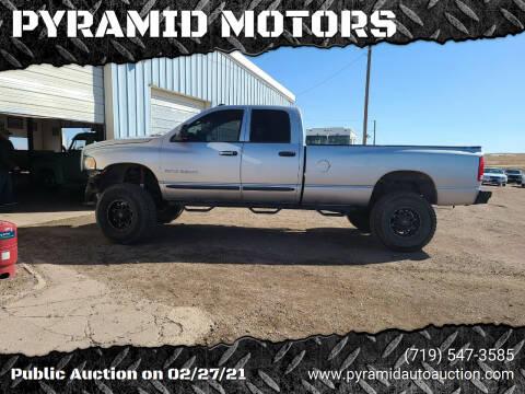 2004 Dodge Ram Pickup 3500 for sale at PYRAMID MOTORS - Pueblo Lot in Pueblo CO