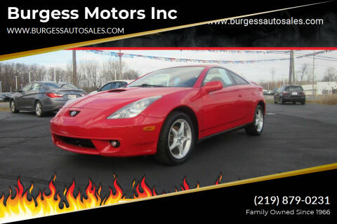 2001 Toyota Celica for sale at Burgess Motors Inc in Michigan City IN