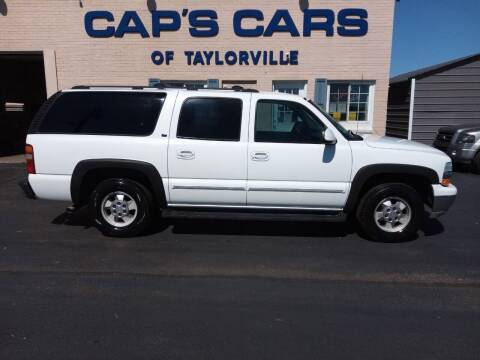 2002 Chevrolet Suburban for sale at Caps Cars Of Taylorville in Taylorville IL