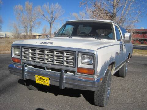 1984 Dodge Ramcharger for sale at Pollard Brothers Motors in Montrose CO