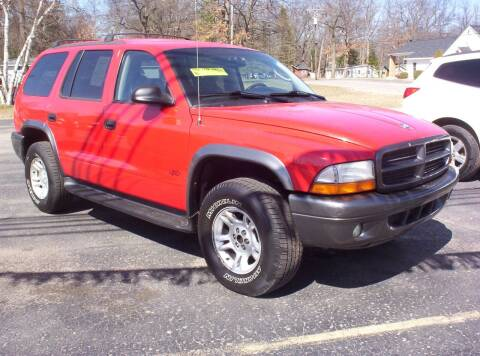 2002 Dodge Durango for sale at LAKESIDE MOTORS LLC in Houghton Lake MI