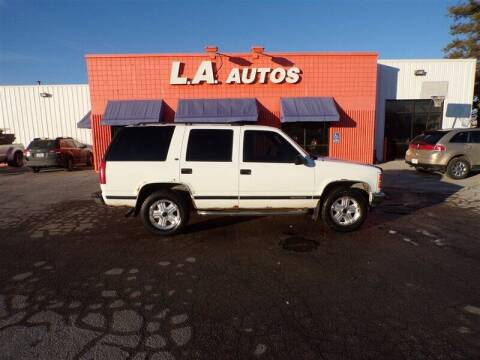 1998 GMC Yukon for sale at L A AUTOS in Omaha NE