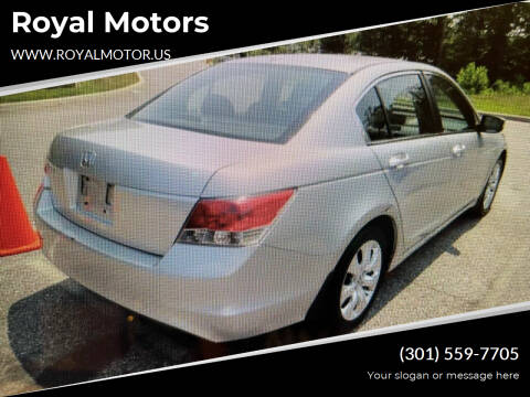 2009 Honda Accord for sale at Royal Motors in Hyattsville MD