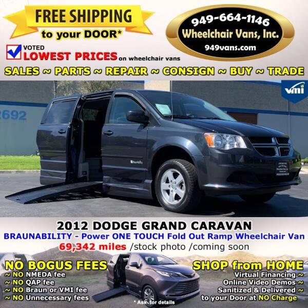 2012 Dodge Grand Caravan for sale at Wheelchair Vans Inc - New and Used in Laguna Hills CA