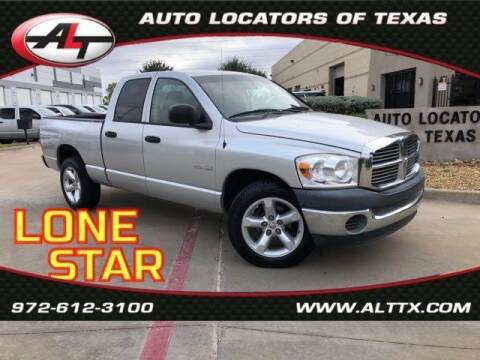 2008 Dodge Ram Pickup 1500 for sale at AUTO LOCATORS OF TEXAS in Plano TX