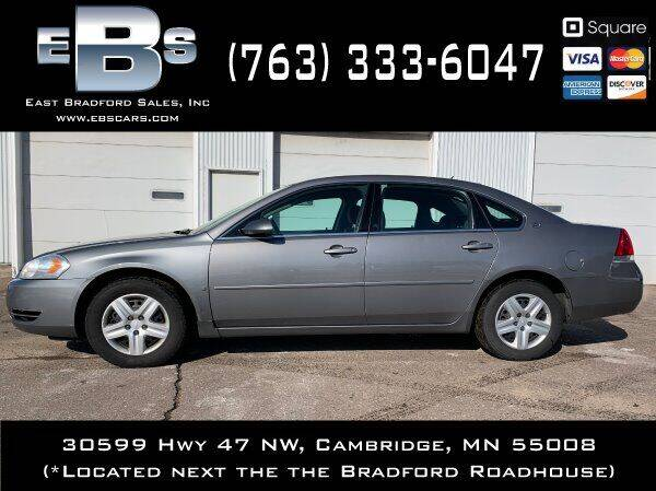 2006 Chevrolet Impala for sale at East Bradford Sales, Inc in Cambridge MN