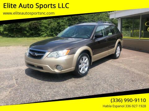 2008 Subaru Outback for sale at Elite Auto Sports LLC in Wilkesboro NC