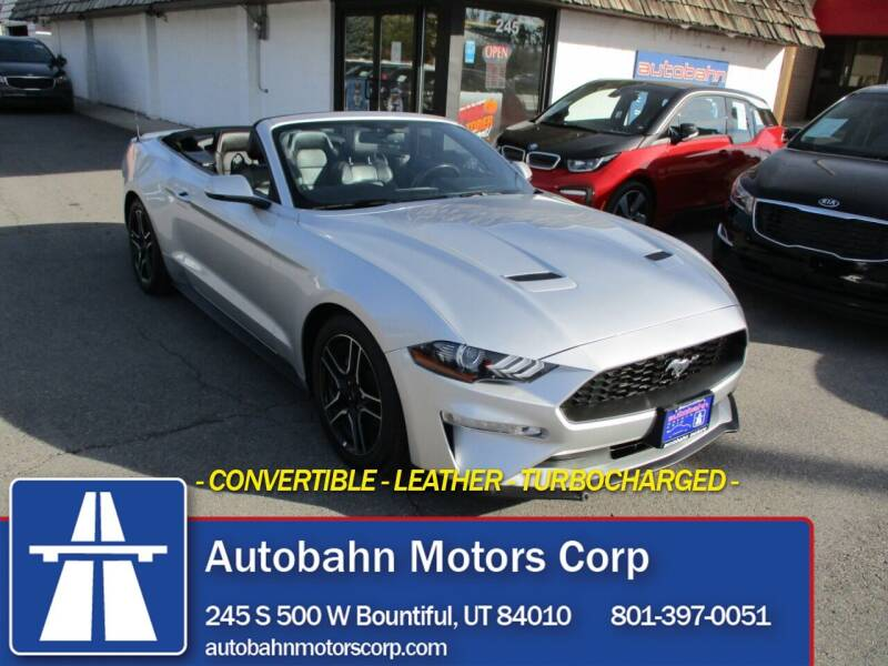 2018 Ford Mustang for sale at Autobahn Motors Corp in Bountiful UT