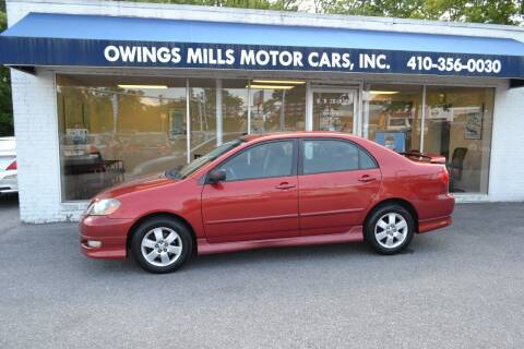 2007 Toyota Corolla for sale at Owings Mills Motor Cars in Owings Mills MD