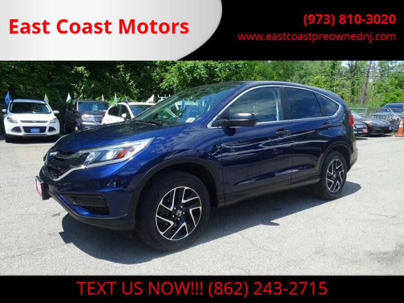 2016 Honda CR-V for sale at East Coast Motors in Lake Hopatcong NJ