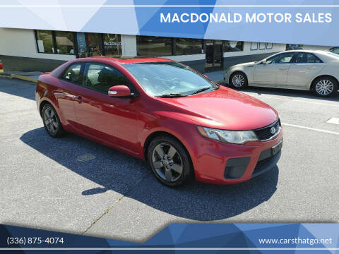 2010 Kia Forte Koup for sale at MacDonald Motor Sales in High Point NC