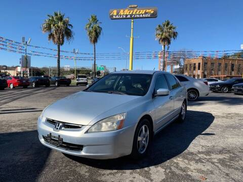 2005 Honda Accord for sale at A MOTORS SALES AND FINANCE - 5630 San Pedro Ave in San Antonio TX