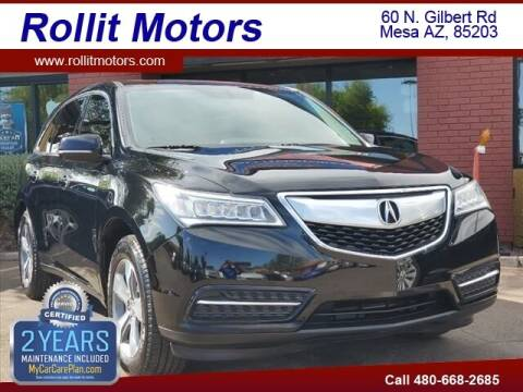 2014 Acura MDX for sale at Rollit Motors in Mesa AZ