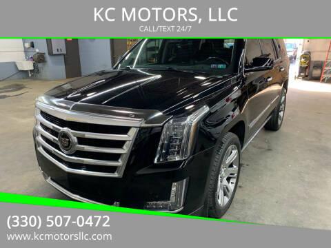 2015 Cadillac Escalade for sale at KC MOTORS, LLC in Boardman OH