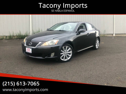 2009 Lexus IS 250 for sale at Tacony Imports in Philadelphia PA