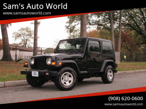 2004 Jeep Wrangler for sale at Sam's Auto World in Roselle NJ