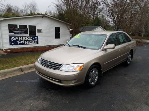 2003 Toyota Avalon for sale at TR MOTORS in Gastonia NC