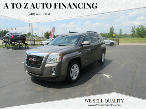 2011 GMC Terrain for sale at A to Z Auto Financing in Waterford MI