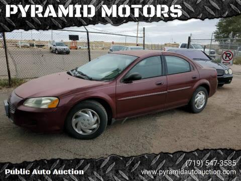 2001 Dodge Stratus for sale at PYRAMID MOTORS - Pueblo Lot in Pueblo CO