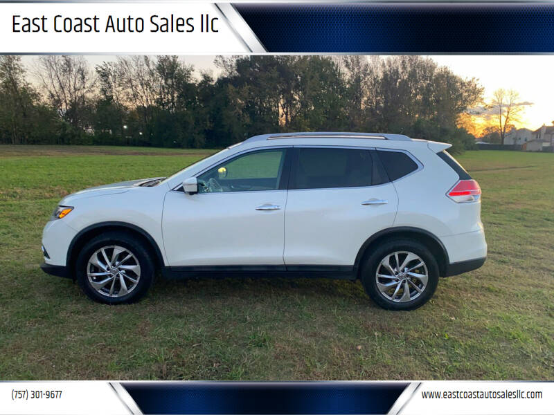 2015 Nissan Rogue for sale at East Coast Auto Sales llc in Virginia Beach VA