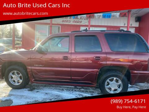 2002 GMC Yukon for sale at Auto Brite Used Cars Inc in Saginaw MI