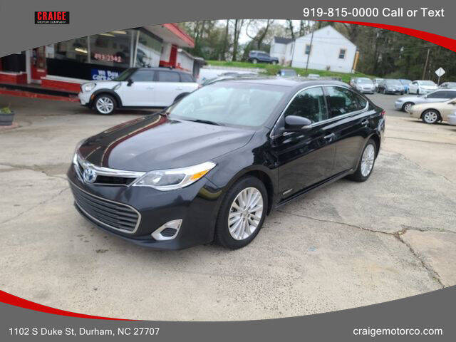 2015 Toyota Avalon Hybrid for sale at CRAIGE MOTOR CO in Durham NC