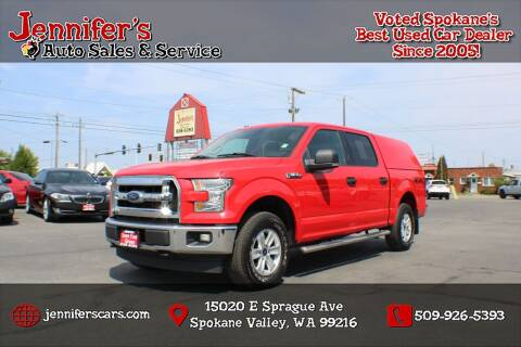 2017 Ford F-150 for sale at Jennifer's Auto Sales in Spokane Valley WA