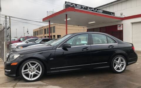 2012 Mercedes-Benz C-Class for sale at FAST LANE AUTO SALES in San Antonio TX