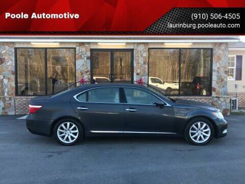 2008 Lexus LS 460 for sale at Poole Automotive in Laurinburg NC