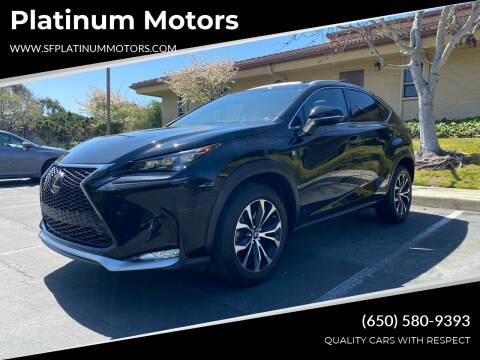 2017 Lexus NX 200t for sale at Platinum Motors in San Bruno CA