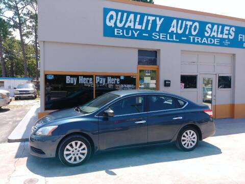 2013 Nissan Sentra for sale at QUALITY AUTO SALES OF FLORIDA in New Port Richey FL