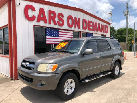 2006 Toyota Sequoia for sale at Cars On Demand 2 in Pasadena TX