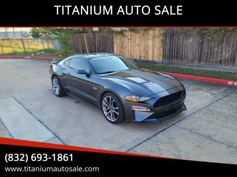 2018 Ford Mustang for sale at TITANIUM AUTO SALE in Houston TX