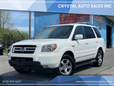 2008 Honda Pilot for sale at Crystal Auto Sales Inc in Nashville TN
