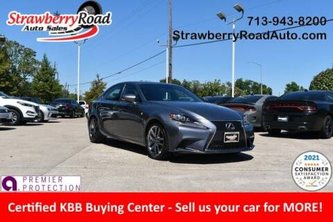 2016 Lexus IS 200t for sale at Strawberry Road Auto Sales in Pasadena TX