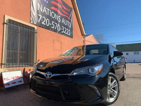 2016 Toyota Camry for sale at Nations Auto Inc. II in Denver CO