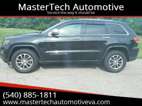 2016 Jeep Grand Cherokee for sale at MasterTech Automotive in Staunton VA