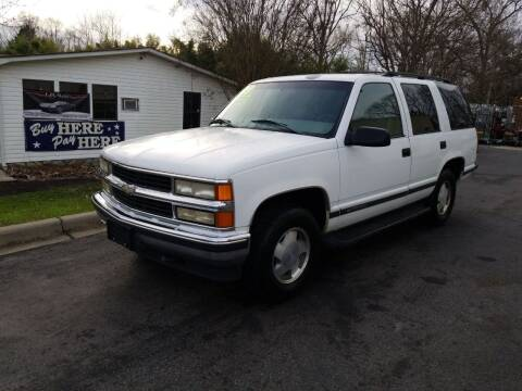1998 Chevrolet Tahoe for sale at TR MOTORS in Gastonia NC