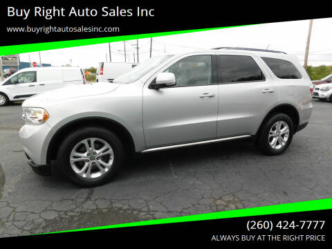 2012 Dodge Durango for sale at Buy Right Auto Sales Inc in Fort Wayne IN