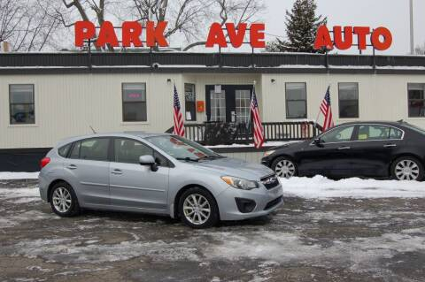 2013 Subaru Impreza for sale at Park Ave Auto Inc. in Worcester MA